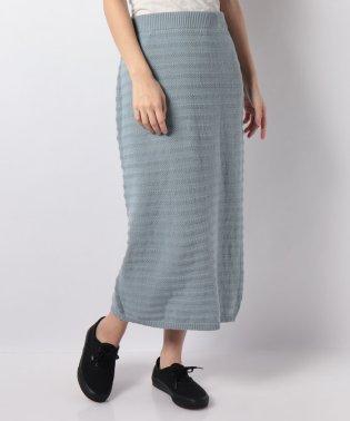 ボーダー地柄編みニットスカート