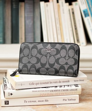 COACH OUTLET F39670 SV/GM ラウンドファスナー長財布