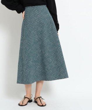 スラブチェックAラインフレアスカート