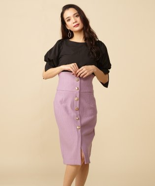 マルチボタンタイトスカート