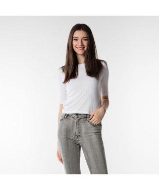 クロップドTシャツ/BRIGHTWHITE