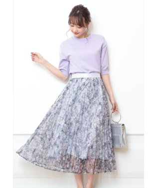 【andGIRL 4月号掲載】アートフラワープリーツスカート
