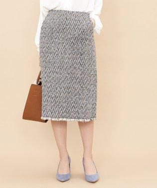 【セットアップ対応商品】ミックスツイードタイトスカート
