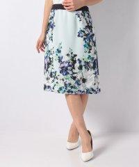 花柄パネルプリントセミタイトスカート