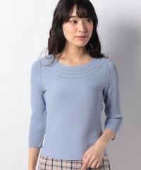 求心リブ編みニットセーター