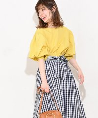 【natural couture】ボリュームスリーブシャーリングブラウス