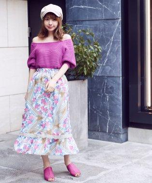 オリジナルスカーフ柄マキシスカート