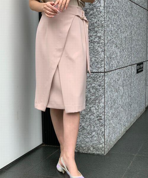 【CLASSY.4月号掲載】ダブルクロスハイウェストスリットタイトスカート