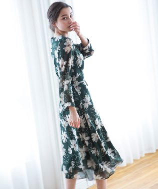 FLOWER PATTERN DRESS
