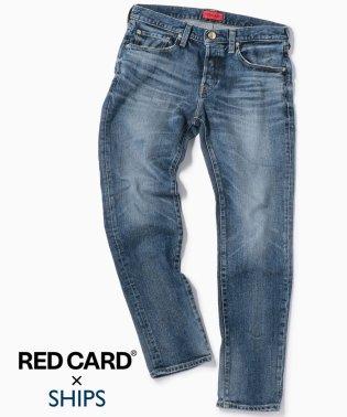 RED CARD×SHIPS: 別注 ジャストレングス ストレッチ スリムテーパードデニム【RHYTHM】