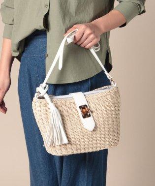 【Via Demizon ビアデミゾン】バンブーひねり金具のショルダーかごバッグ
