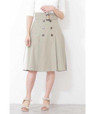 トレンチツイルサイドプリーツスカート