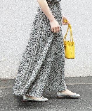 【WEB限定】フラワーアコーディオンプリーツスカート