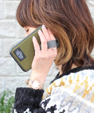 〈Kajsa/カイサ〉Military Collection Straps iPhone X/XS/XS MAX Back Case / ミリタリーストラップ