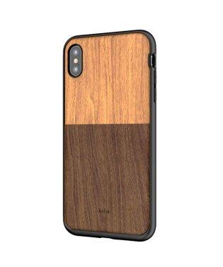 〈Kajsa/カイサ〉Wood Pocket Backcase(iPhoneX/XS/XS MAX対応) ウッドポケット バックケース