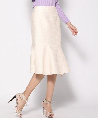 【3サイズ展開】ラメスクエアジャガードスカート