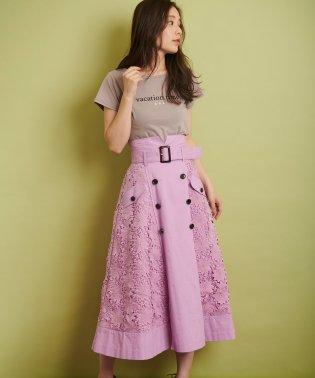 【Ray4月号掲載】レースミックストレンチスカート
