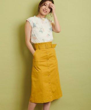【美人百花5月号・4月号掲載/mamagirl4月号掲載】配色ステッチAラインスカート