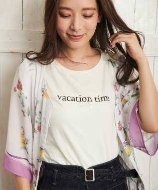 【Ray6月号掲載】【vacation time】ロゴTシャツ