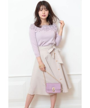 【andGIRL/美人百花 4月号掲載】カラーフレアスカート