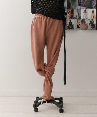 unfil paper&cotton-terry pants