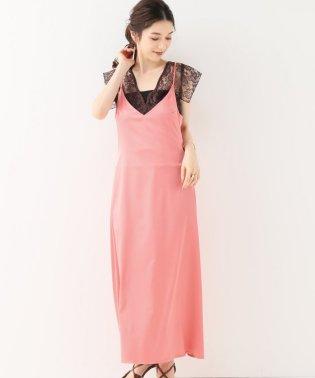 【ELIN】ストレッチサテンキャミドレス