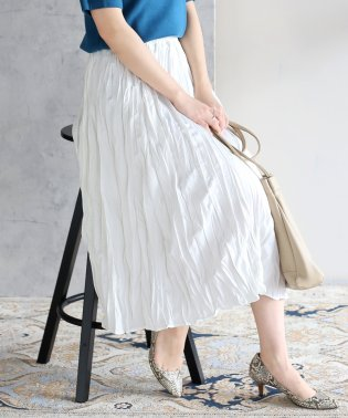 ◆ワッシャー加工でこなれた雰囲気◆ワッシャースカート