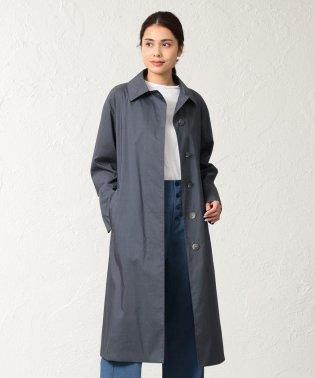 <Spring Coat>先染めシルクコットンベルテッドコート