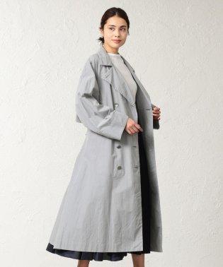 <BLUEFLAG+kiminori morishita>綿麻タイプライタースタンドカラーベルテッドコート
