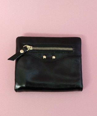 【本革】 エナメル 二つ折り財布 / ウォレット