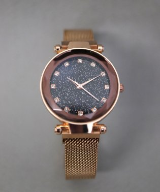 クリスタルカット ラメカラーウォッチ / レディース腕時計