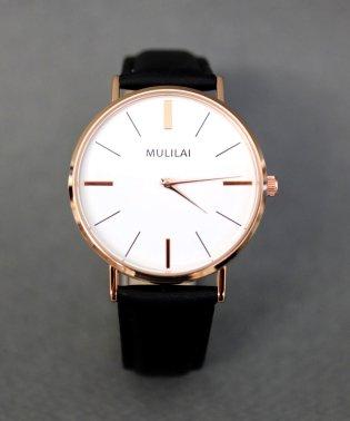 【MULILAI】 大判シンプルウォッチ / ユニセックス腕時計 レディース