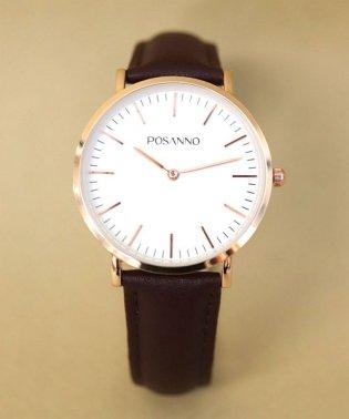 【POSANNO】 シンプルアンティークウォッチ / ユニセックス腕時計 レディース