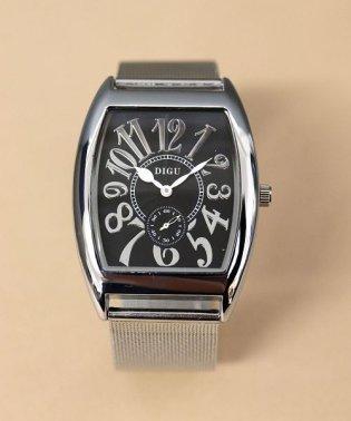 【DIGU】 スクエアアンティーク風ウォッチ / ユニセックス腕時計 レディース