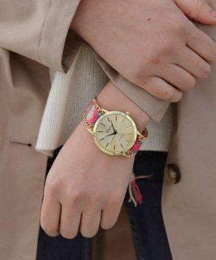 チェーントリミング ミサンガウォッチ / レディース腕時計