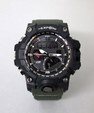 【EXPONI】 多機能デジタルウォッチ / ユニセックスクロノグラフ腕時計