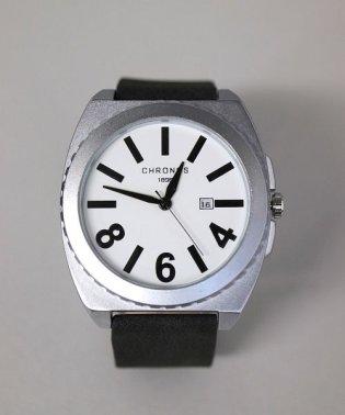 【CHRONOS】 大ぶりスクエア アナログウォッチ / ユニセックス腕時計