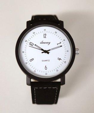 【tlewa/ileway】 大ぶりアナログウォッチ / ユニセックス腕時計