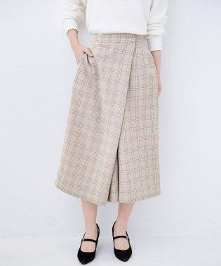 動きやすいのにちゃんと女子見え スカートみたいな華やかチェックパンツ