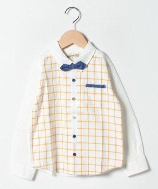 蝶ネクタイ付きシャツ