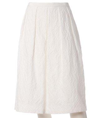 ボーダー柄フラワージャガードスカート