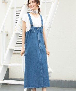 【一部店舗限定】【Lee×ViS】デニムジャンパースカート