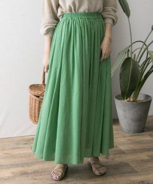 高機能リネンギャザースカート