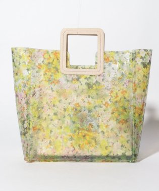ポーチ付き花柄トートバッグ