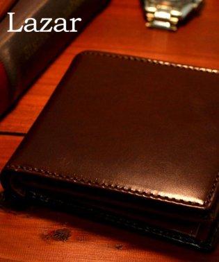 【LAZAR】イタリーレザー中ベラ付き2折り財布