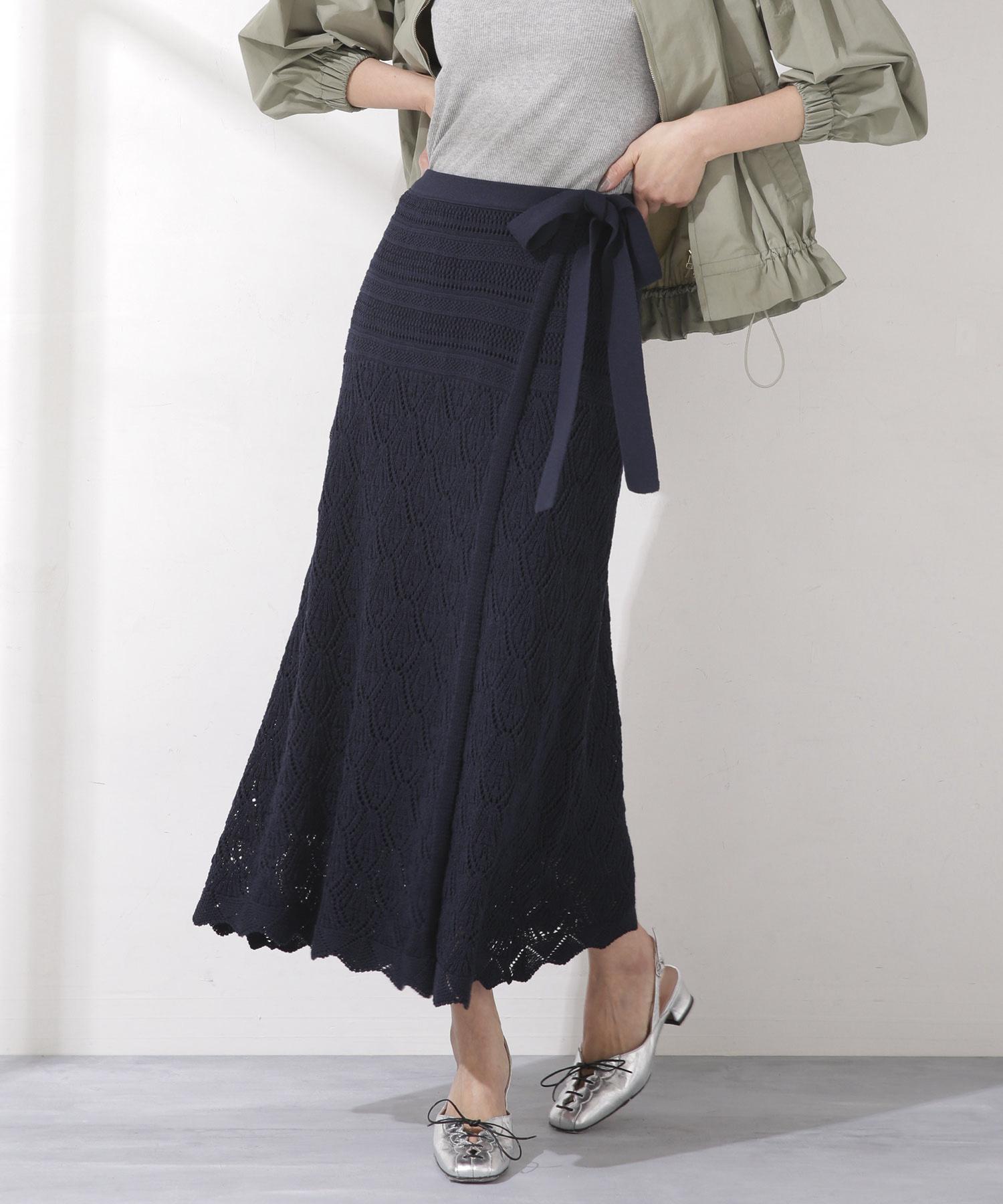 【Oggi 5月号掲載】クロシェレースラップスカート