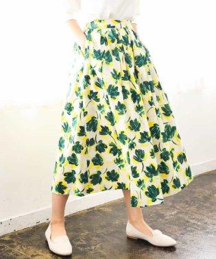 【洗える】カットジャガードプリントスカート