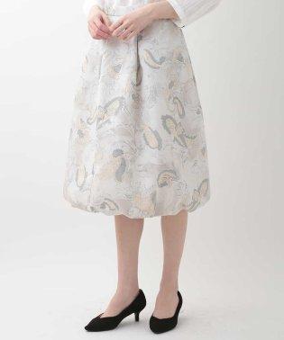 フラワープリントバルーンスカート