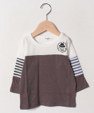 切替7分丈Tシャツ