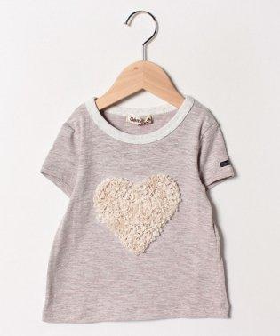 ハートモチーフ半袖Tシャツ